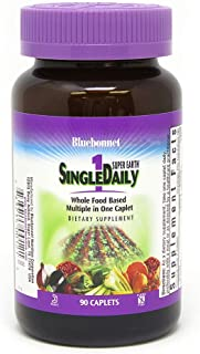 BlueBonnet Super Earth Single Daily Multi-Nutrient Formula Iron Caplets, 90 Count