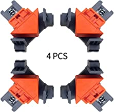Abrazadera de esquina de ángulo recto de 90 grados, un juego de 4 abrazaderas de aleación de zinc, soporte de marco para carpintería en ángulo recto