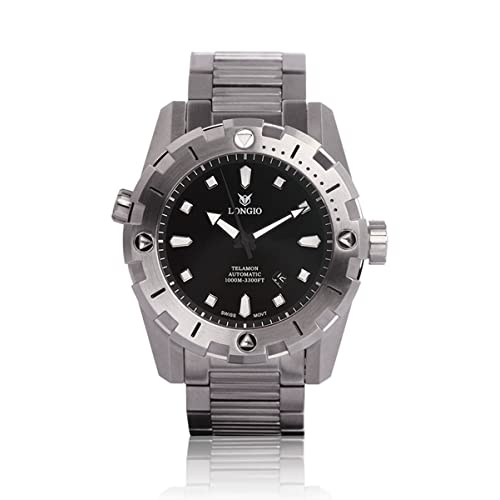 Diver Watches Longio Telamon 1000m Swiss Automatic Pro Diver Watches 47mm Dive Watch with Helium Valve