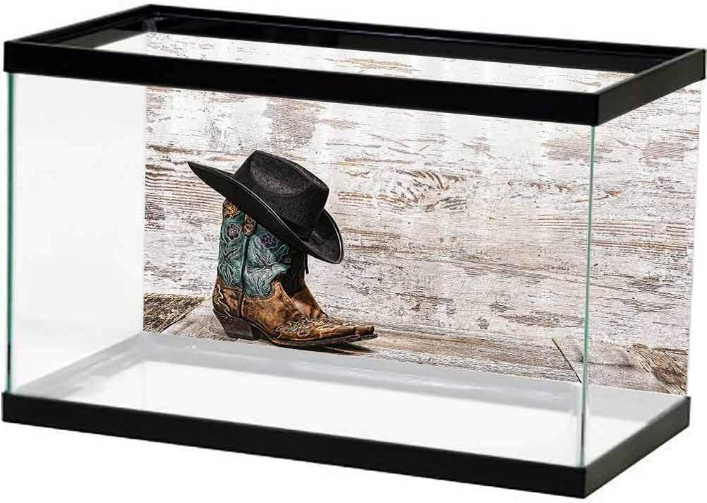 Western Decor Aquarium 3D Backdrops Hat Cowboy Max 41% OFF Boston Mall Rodeo Traditional