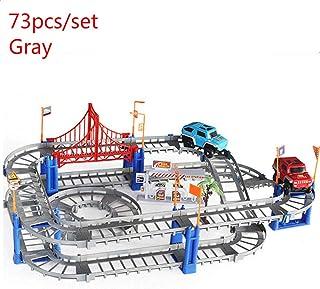 DAWEIF Magical Railway Racing Play Set Variety Rail Car Assembled Educational Toy Children's DIY Toy Car