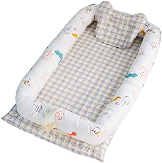 Babynest Bed Portable for Newborn Baby Soft Breathable Baby Snuggle Nest Sleep Cot Crib Cocoon Lounger//Washable,31.419.6 Leaf