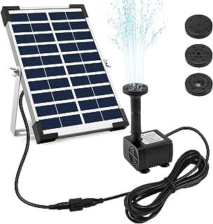 Ankway Bomba Solar 12V con Cable de 325M128 5W Kit Bomba de Agua Solar Sumergible con Soporte para jardín Estanque Pati...