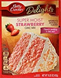 CAKE MIX: Betty Crocker's super moist strawberry cake mix is made with no preservatives and no artificial flavors. QUICK AND EASY: Make cake without the usual mess; just add a few simple ingredients as directed and pop in the oven for a sweet treat a...