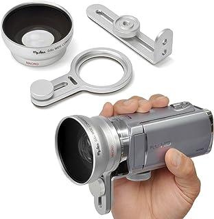 (レンズ非対応のビデオカメラに広角レンズが付けられる) My Lens α (マイレンズ アルファ) 0.6倍 広角 ビデオカメラ用 ワイド コンバージョンレンズ ブラケット ねじ切りが無くレンズが取り付けられないカメラ用