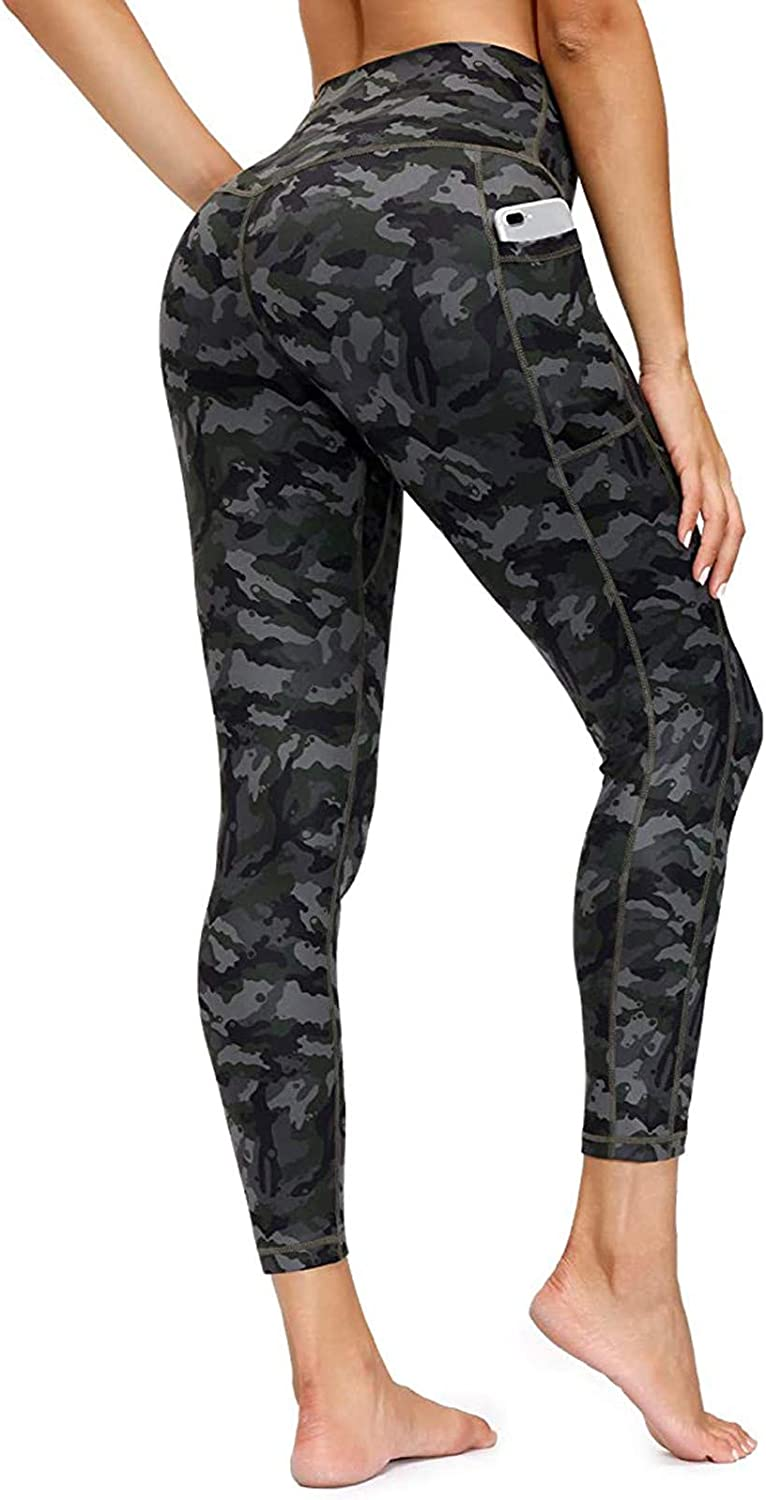 AODONG Yoga Pants for Women with Pockets,High Waisted Yoga Leggings Tummy Control Workout Sports Running Pants