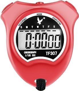 ساعة إيقاف رياضية رقمية احترافية من إل إيه بي، ساعة إيقاف مضادة للصدمات مع عرض أرقام كبيرة جدًا، رائعة للمجتمع المدرسي أو ...