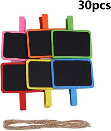 Amazon.com: Vpang Mini Blackboard Clips 30 Pcs Colorful ...