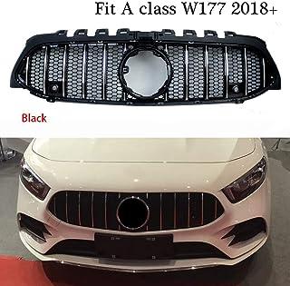 Lopbinte Coche de Negro Parachoques Delantero Spoiler Flanco Viento Cuchillo para Mercedes Clase A180 A200 A220 W177 Negro
