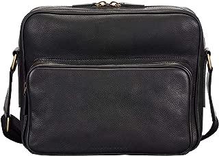 Maxwell Scott Men's Italian Leather Messenger Bag - SantinoM Soft Grain Black