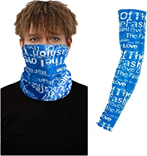 Simayixx Men Women Bandana Neck Gaiter Face Cover & Sleeve for Outdoor Hiking Cycling Running Sun UV Protection