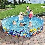Swimming Pool for Kids Foldable 8ft - Kiddie Pool Snapset Instant Kiddie Pools Baby Pool Kids PoolforFamily Backyard Dog Pet Bath Collapsible Pool Dog Pet Pool Bathing Tub Toys
