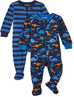 The Children's Place baby-boys The Children's Place Baby And Toddler Boys Dino Snug Fit Cotton One Piece Pajamas 2-Pack Ba...
