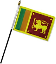 ALBATROS Sri Lanka 4 inch x 6 inch Flag with Stick for Desk, Table for Home and Parades, Official Party, All Weather Indoors Outdoors