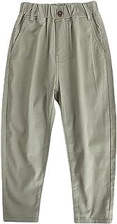 ZRFNFMA Ropa para niños Primavera y Verano Pantalones para niños, Pantalones casuales ligeros, pantalones, pantalones elás...