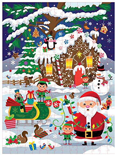Christmas Jigsaw Puzzle, 300-Piece Large Holiday Winter Wonderland (20 x 27 In)