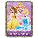 Disney's Princesses, 'Sparkle Dream' Woven Tapestry Throw Blanket, 48' x 60', Multi Color