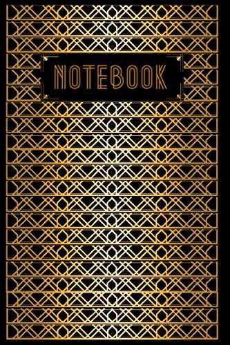 Notebook: Luxueux carnet de notes ligné style Art Déco pour femmes 2021 format 6*9 in (15*22cm).
