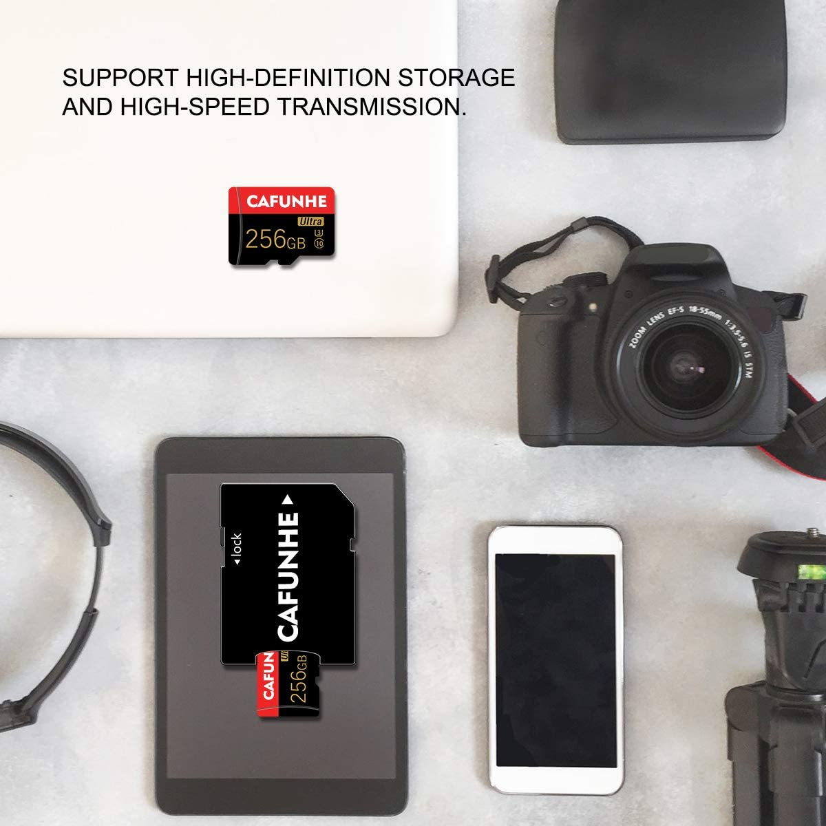 256GB Micro SD Memory Card (Class 10 High Speed) Memory Card/TF Card with Adapter for Camera, Phone, Computer, Surveillance,Drone