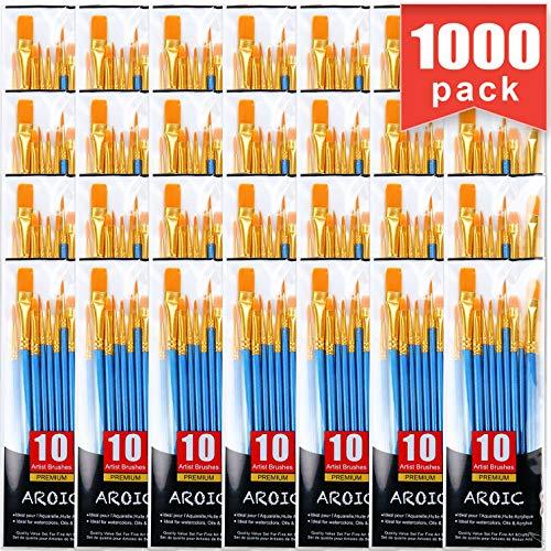 Acrylic Paint Brush Set, 100 Packs