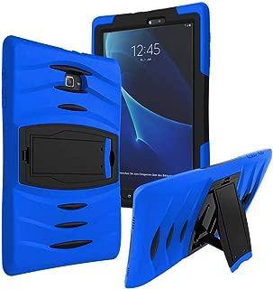 KIQ Galaxy Tab A 8.0 2015 T350 Case, Full-Body Shockproof Military Heavy Duty Case Cover Screen Protector Stand Samsung Galaxy Tab A 8.0 SM-T350 SM-T355 (2015) (Armor Blue)