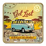 Nostalgic-Art 46143 Volkswagen - VW Bulli - Let's Get Lost, Metall-Untersetzer