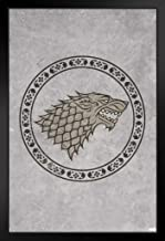 Pyramid America Game of Thrones Stark Circle Sigil Direwolf Poster 12x18 Inch 14x20 inches Black 393879