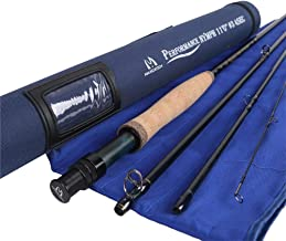 M MAXIMUMCATCH Maxcatch Performance Nymph Fly Fishing Rod in 3/4wt: 10ft, IM10 Carbon, AAA Cork Handle, Cordura Rod Tube