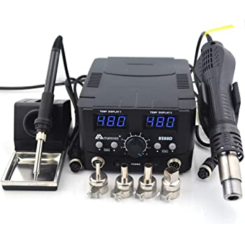 KSGER T12 Soldering Iron Station 2 In 1 SMD Hot Air Gun Soldering /& Desoldering