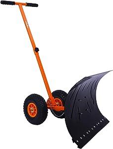 Ohuhu Snow Shovel with Wheels