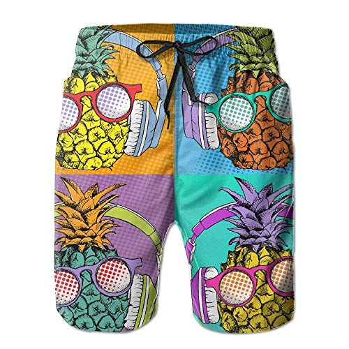 Funny Pineapple Diving Men Swin Trunk Summer Beach Surfing boardshorts