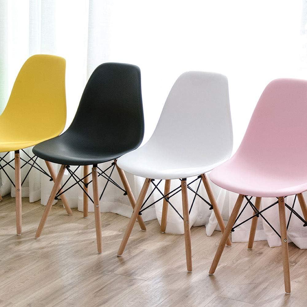 Jambe en bois Plastique Salle à manger Chaise Chaises Longues Design Moderne Cuisine/Chambre / Caractéristiques/Restaurant / Appartement/Café / Bar. Jaune