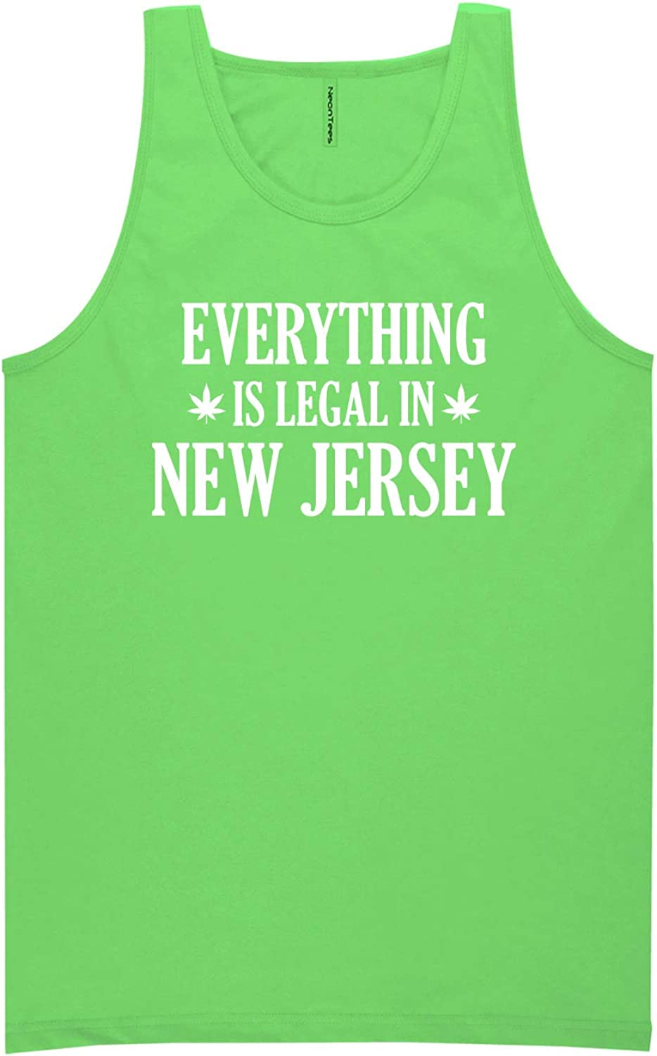 Everything is Legal in New Jersey Neon Green Tank Top - XX-Large