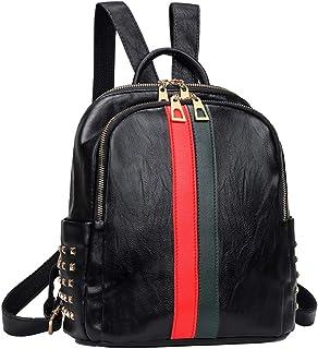Mynos Fashion Backpack Bag Purse For Women Leather Mini Rucksack Zipper Travel Daypack Ladies Shoulder Bag Tote