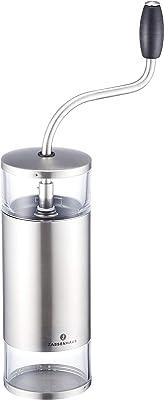 ザッセンハウス ZASSENHAUS コーヒー ミル グラインダー 手動 手挽き ホッパー 80g、 引き出し 40g シルバー リマ MJ-0807