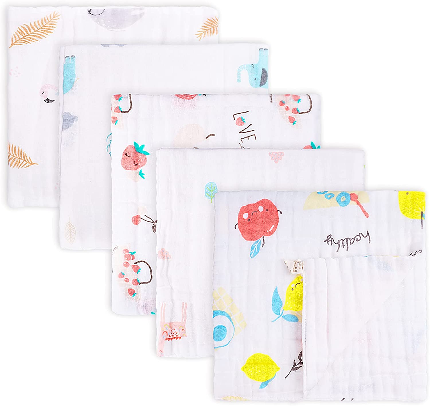 Muslin Baby 2021 autumn and winter new Burp Cloths 5 Pack Layers Spit Burping Cheap SALE Start Cloth Sets 6
