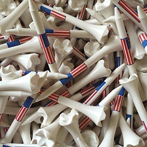 "Santa Superstore 100 3 1/4"" Pride Evolution American Flag USA Golf Tees White Wholesale"
