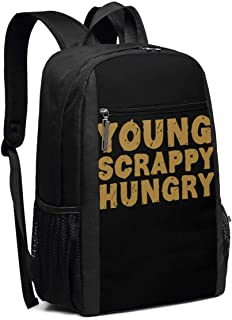 Young Scrappy Hungry School Rucksack College Bookbag Lady Travel Backpack Laptop Bag for Boys Girls