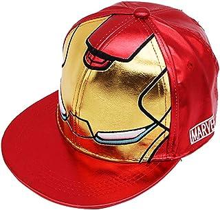 Culer Patrón de los niños Hierro Niños Hombre PU gorras de béisbol Hip Plain Sombreros Niño Niña Hop unisex del sombrero del Snapback Visera