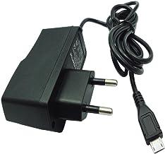 Europen-Standardstecker 5Volt 2000mA AC//DC-Netzteil zum Laden von Android-Smartphones//Tablets und Heimkameras Dericam 5V 2A Micro-USB-Ladeger/ät Schwarz 1,5m Netzkabel