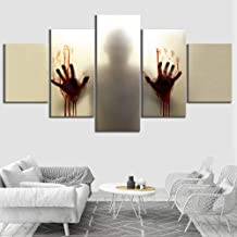 Canvas HD Printed Posters Abstract Home Decor 5 Panel Hand The Walking Dead Movie Painting Living Room Wall Art Pictures