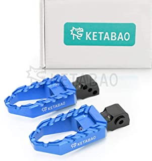KETABAO Aluminum Highway Wide Blue BUZZ Rear Foot Pegs For Yamaha YZF R1 00-14 + YZF R6 03-16 + Vmax 1700 09-17