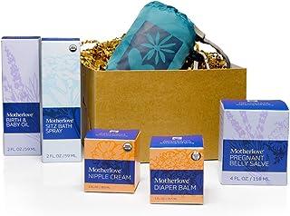 Motherlove Nurturing Life Gift Box—Great Baby Shower Gift—1 Each of: Pregnant Belly Salve (4oz), Sitz Bath Spray (2oz), Bi...