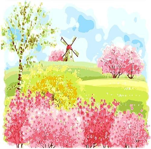 NDSLJSLYH Bricolage Peinture Numérique Moulin à Vent 100X180Cm étudiant Débutant pour Enfants Adultes Peindre Kits Home Decor Peinture Cadeau