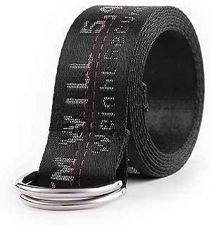 OW Metal D-ring Buckle Black Industrial Waist Belt OFF WHITE Streetwear