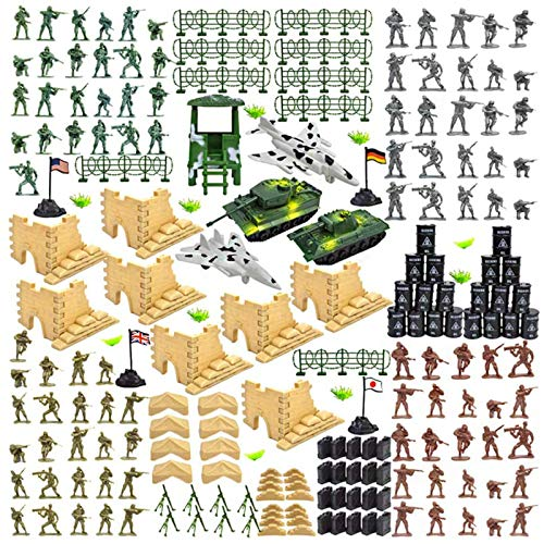 3 otters Military Figures and Accessories, 250 PCS Army Men Action Figures Soldier Playset Army Soldiers