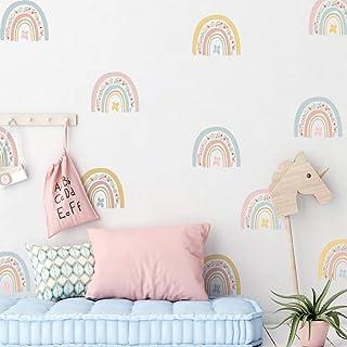 SüssUAE 36 Pieces Flower Mini Rainbow Nursery Wall Stickers