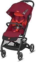 Gb Gold Qbit+ All-City - Silla de paseo compacta, asiento reclinable plano desde el nacimiento hasta 17 kg (aprox. 4 años), marco negro, rosa rojo