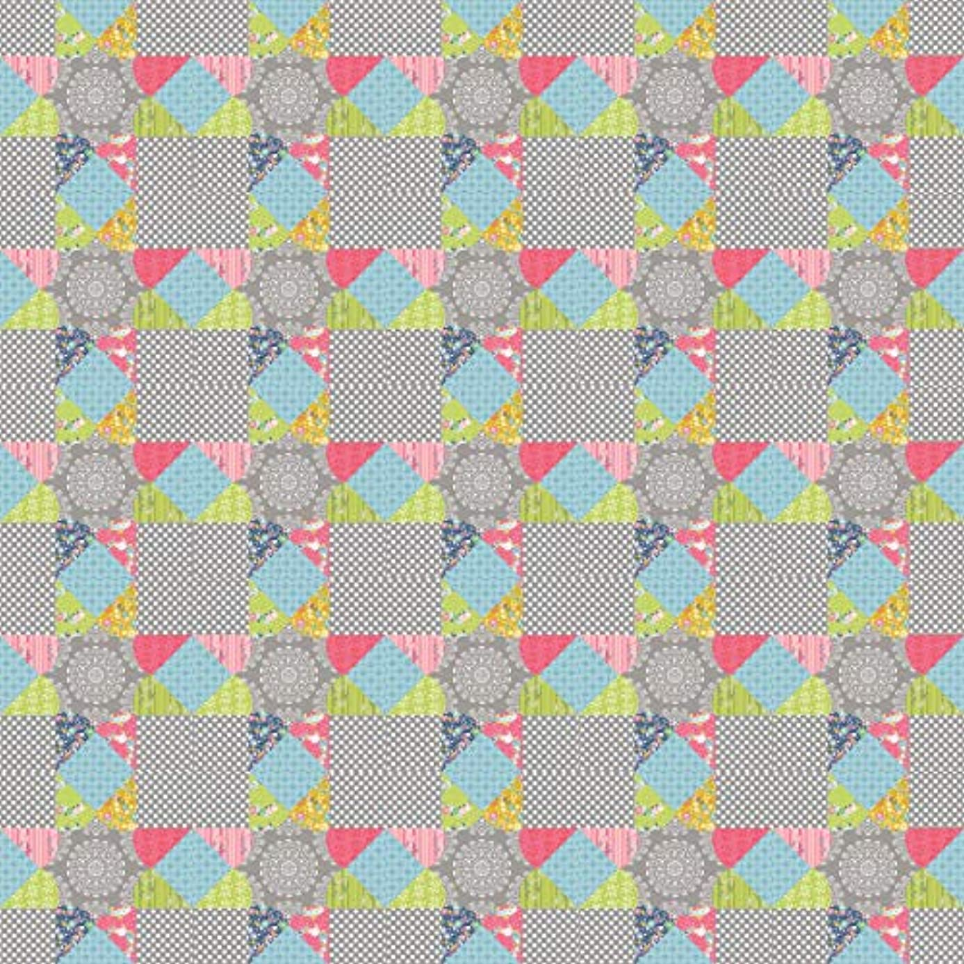 Patchwork With Busyfingers CL105-ARKS Arkansas Star Block Classics Template Set English Paper Piecing Multicolor