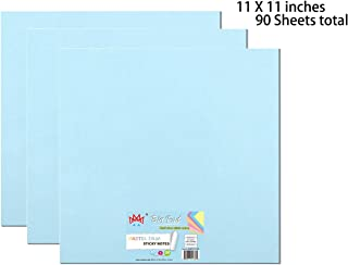 4A Sticky Big Pad,11 x 11 Inches,Large Size,Pastel Blue,Self-Stick Notes,30 Sheets/Pad,3 Pad/Pack,4A BP1111 BL